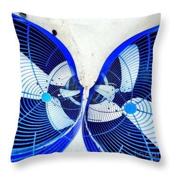 Kissing Fans Throw Pillow by Amy Cicconi