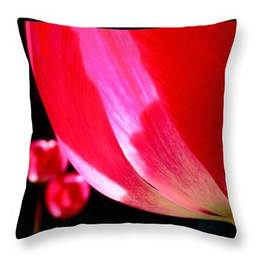 Kissing Throw Pillow by Rona Black