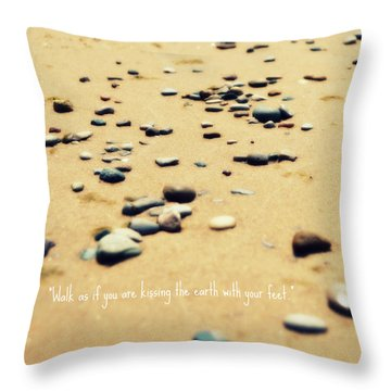 Kissing The Earth Throw Pillow by Poetry and Art
