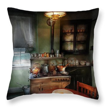 Kitchen - 1908 Kitchen Throw Pillow by Mike Savad