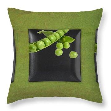Kitchen Art - Peas - 02t01b Throw Pillow by Aimelle