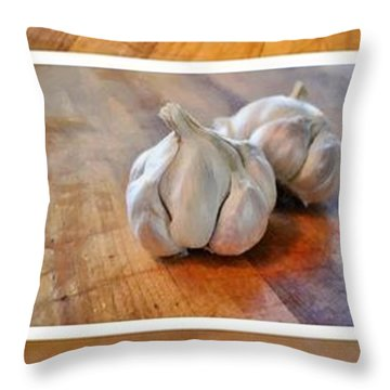 Kitchen Collage Throw Pillow