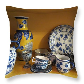 Throw Pillow featuring the photograph Kitchen Collection by Ramona Johnston