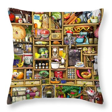 Drawers Digital Art Throw Pillows