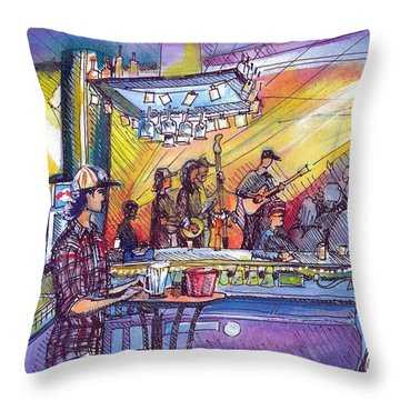 Kitchen Dwellers  Throw Pillow by David Sockrider