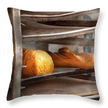 Kitchen - Food - Bread - Freshly Baked Bread  Throw Pillow by Mike Savad