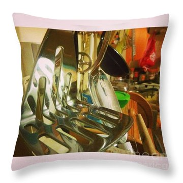#kitchen #food Throw Pillow by Isabella F Abbie Shores FRSA