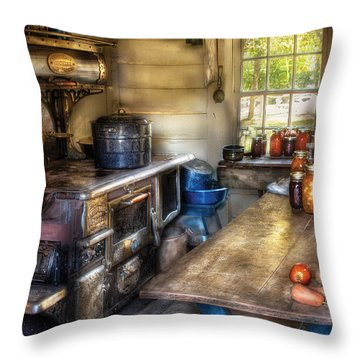 Kitchen - Home Country Kitchen  Throw Pillow by Mike Savad