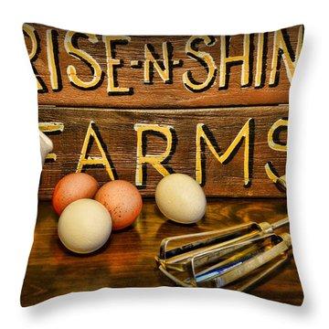 Kitchen  Rise And Shine Throw Pillow by Paul Ward