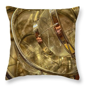 Kitchen Sieves No. 2 Throw Pillow by Lynn Palmer