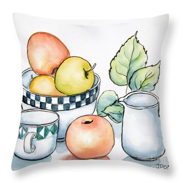 Kitchen Still Life Sketch Throw Pillow