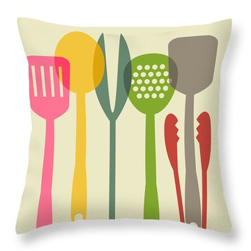 Kitchen Tools Throw Pillow