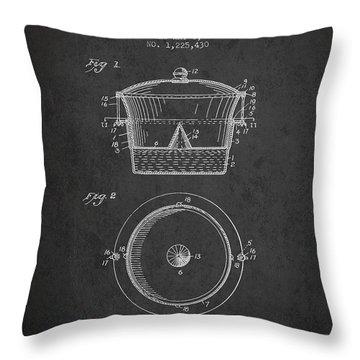 Kitchen Utensil Patent From 1917 - Dark Throw Pillow