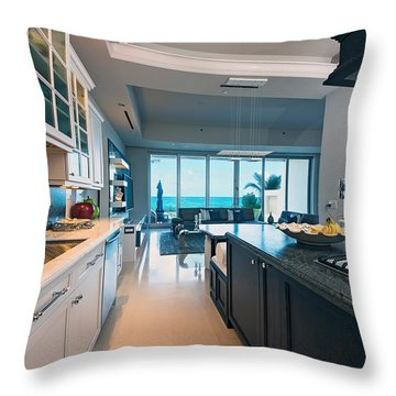 Kitchen With A View Throw Pillow