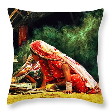 Kitchens Of India Throw Pillow