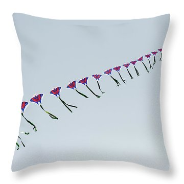 Kites In China Throw Pillow by John Shaw
