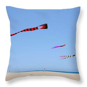 Kites Over Cabo Throw Pillow