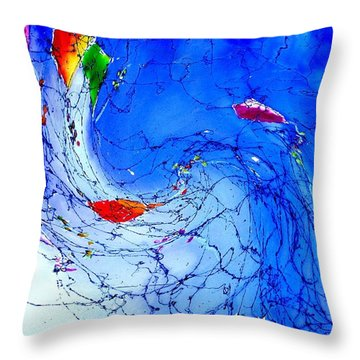 Kitewave Throw Pillow by Anne Duke