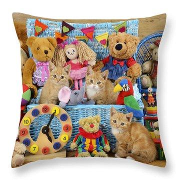 Kitten Dress Box Ck526 Throw Pillow by Greg Cuddiford