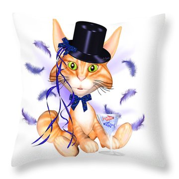 Kitticat Party Design Throw Pillow