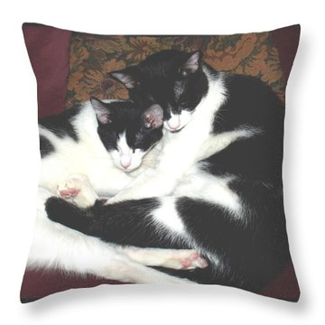 Kitty Love Throw Pillow by Marna Edwards Flavell