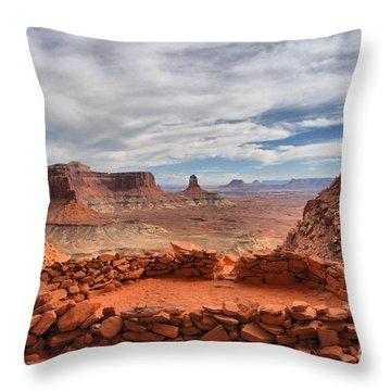 Kiva Canyon Throw Pillow by Adam Jewell