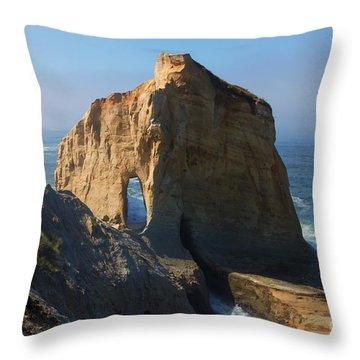 Kiwanda Mist Throw Pillow by Mike  Dawson