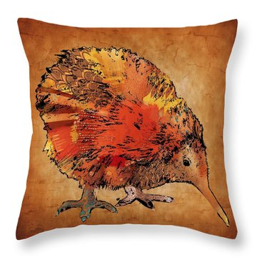 Kiwi Bird Throw Pillow