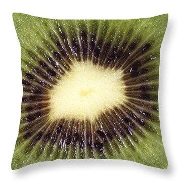 Kiwi Cut Throw Pillow