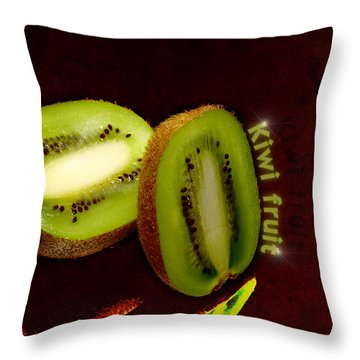 Kiwi Fruit Throw Pillow by Tommytechno Sweden