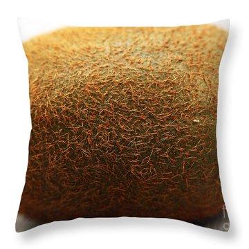 Kiwi Throw Pillow by John Rizzuto