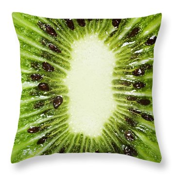 Kiwi Slice Throw Pillow by Chris Knorr