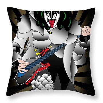 Kizz Throw Pillow by Mark Ashkenazi