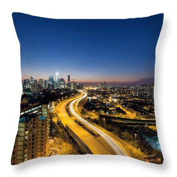 Kl At Blue Hour Throw Pillow by David Gn
