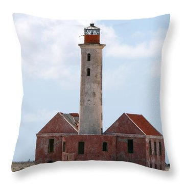 Klein Curacao Lighthouse Throw Pillow by David Millenheft
