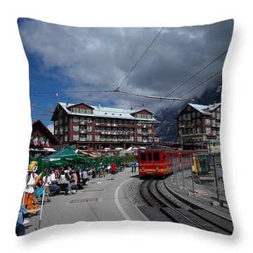Kleine Schedegg Switzerland Throw Pillow