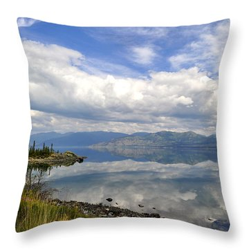 Throw Pillow featuring the photograph Kluane Reflections by Cathy Mahnke