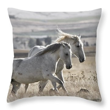 Throw Pillow featuring the photograph Knee Deep D3505 by Wes and Dotty Weber
