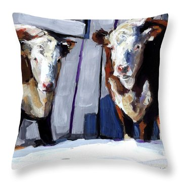 Knee Deep Throw Pillow by Molly Poole