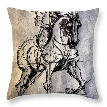 Knight Throw Pillow