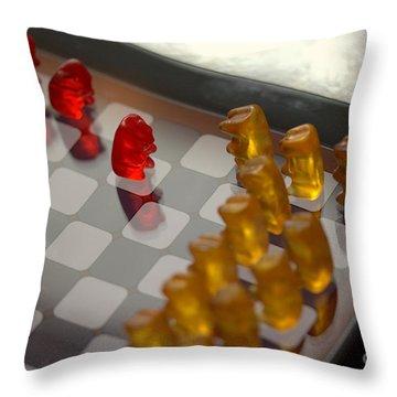 Knight Takes Pawn Throw Pillow