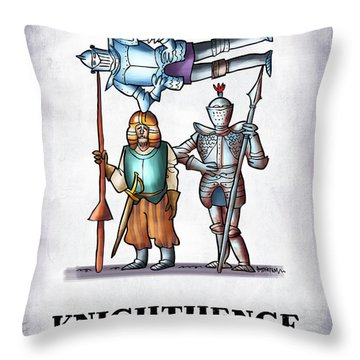 Knighthenge Throw Pillow