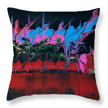 Knights In Shining Rainbow Armour Throw Pillow