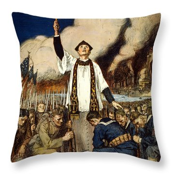 Knights Of Columbus, 1917 Throw Pillow by William Balfour Kerr