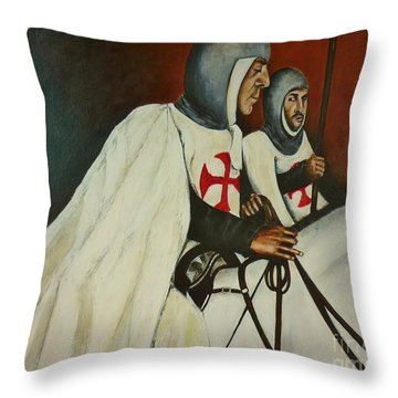 Knights Of Tomar Throw Pillow