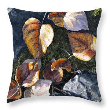 Knik River Autumn Leaves Throw Pillow