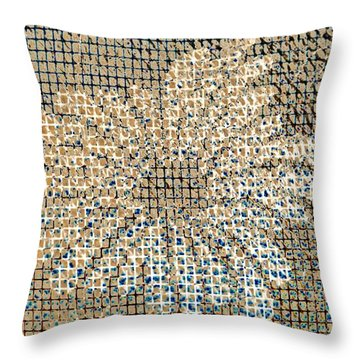 Throw Pillow featuring the photograph Knit Net Flower 1 by Darla Wood