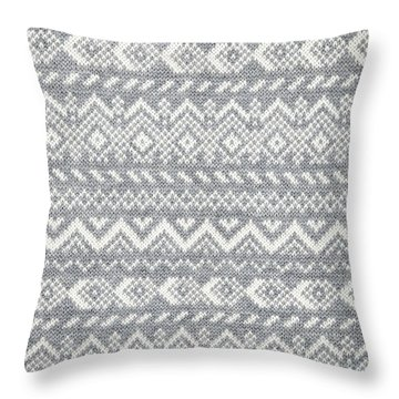 Knit Pattern Abstract Throw Pillow