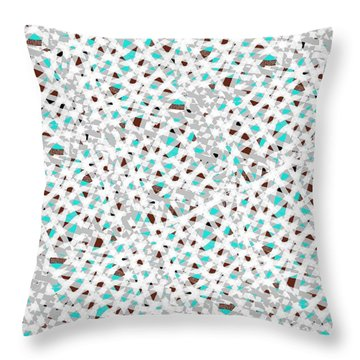 Knitted Pattern 1 Throw Pillow by Larry Black