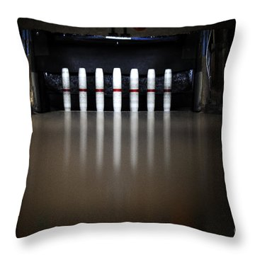 Knock Em Down Throw Pillow by Luke Moore